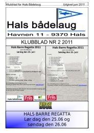 KLUBBLAD NR 2 2011 - Hals bådelaug