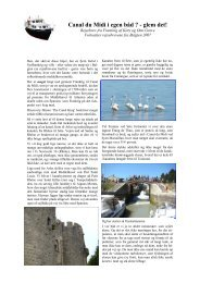 Rejsebeskrivelse af sejlads på Canal du Midi