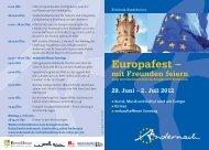 Europafest – mit Freunden feiern 29. Juni – 2 . Juli 2012 - Andernach