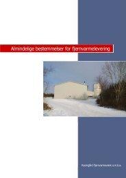 Almindelige bestemmelser - Ryomgård Fjernvarmeværk