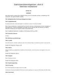 Stærkstrømsbekendtgørelsen Kapitel 709