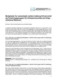 Idénotat - Samarbejde mellem Aalborg Erhvervsråd og ...