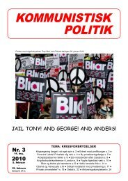 Kommunistisk Politik 3, 2010