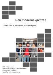 Den moderne qivittoq - Socialt udsatte grønlændere