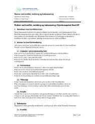 Vedlegg sak 15 10 Rutiner ved konflikt, mobbing og trakassering