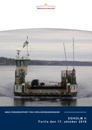 EGHOLM II Forlis den 17. oktober 2010 - Søfartsstyrelsen