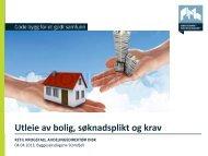 Hybler og kjellerleiligheter - erfaringer fra Stavanger kommune