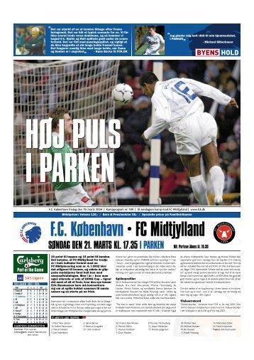 SØNDAG DEN 21. MARTS KL. 17.35 I PARKEN - FC København