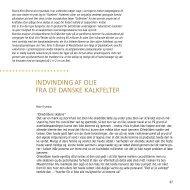 Geus Årsberetning 1999, Indvinding af olie fra de danske kalkfelter
