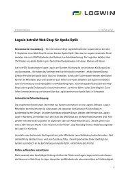 Logwin betreibt Web-Shop für Apollo-Optik