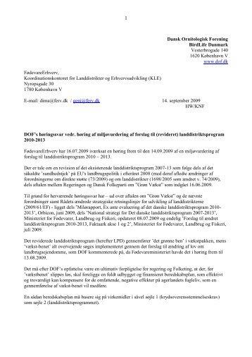 Dansk Ornitologisk Forening BirdLife Danmark Vesterbrogade 140 ...