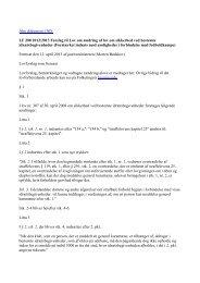 Forslag til Lov om ændring af lov om sikkerhed ved bestemte ...