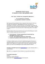 BUSTER Filmfestival inviterer - SSP Horsens