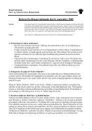 Referat fra Brugerrådsmøde den 8. september 2009 - Naturstyrelsen