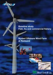 Baseline study Fish, fry and commercial fishery Nysted Offshore ...