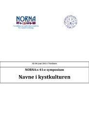 Navne i kystkulturen - Fróðskaparsetur Føroya
