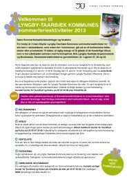 Sommerferieaktiviteter 2013 - Lyngby Taarbæk Kommune