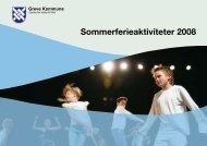 Sommerferieaktiviteter 2008 - Greve Kommune