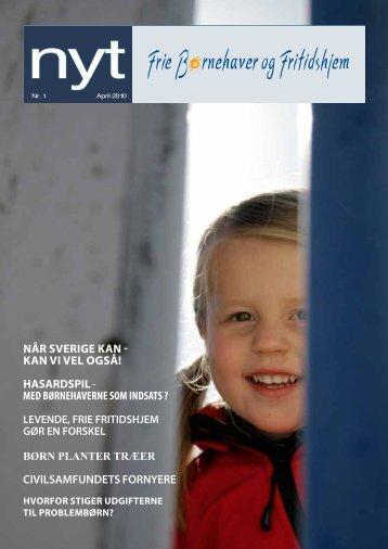 Hent NYT, april 2010 - Frie Børnehaver og Fritidshjem