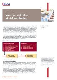 Værd at vide om værdiansættelse af virksomheden - BDO