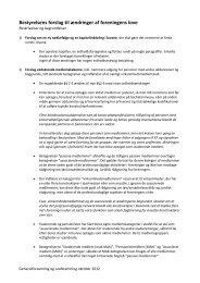 Bestyrelsens forslag til ændringer af foreningens love