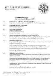 Referat marts 2013 - Sct. Norberts Skole