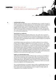 produktark for Stiftelse af andelsboligforeninger (pdf) - Horten