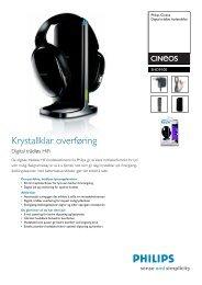 SHD9100/00 Philips Digital trådløs hodetelefon - yaTack