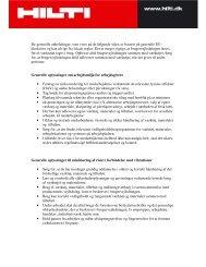 De generelle anbefalinger, som vises på de følgende sider, er ...