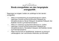 Regeringen om energiforliget - SEnyt