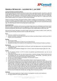 Generelle Betingelser for XPConsult
