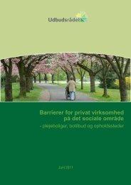 Barrierer for privat virksomhed på det sociale område - Rådet for ...