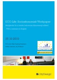 ECO-Life: Socioøkonomisk Workpaper - ECO-Life Project