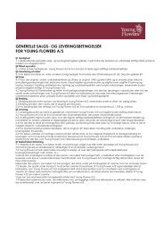 PDF med vores salgsbetingelser - Young Flowers A/S
