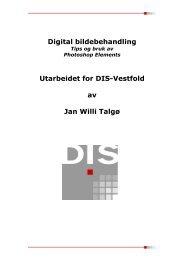 Digital bildebehandling Utarbeidet for DIS-Vestfold av Jan Willi Talgø