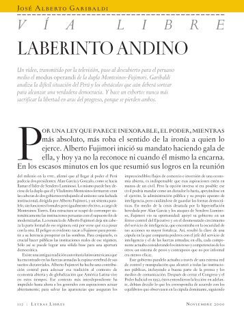 LABERINTO ANDINO - Letras Libres