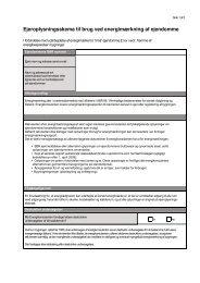 Ejeroplysningsskema til brug ved energimærkning af ejendomme