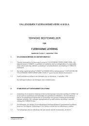 vallensbæk fjernvarmeværk amba tekniske bestemmelser ...