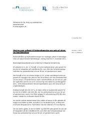 Høring over udkast til bekendtgørelse om salg af alme- ne ...