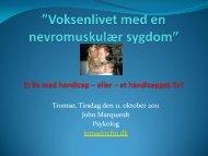 """Voksenlivet med en nevromuskulær sygdom"""" et liv med handicap ..."""