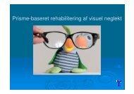 Prisme-baseret rehabilitering af visuel neglekt