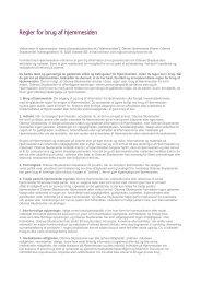 Regler for brug af hjemmesiden