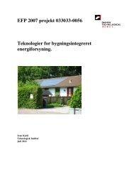Teknologier for bygningsintegreret energiforsyning - Solenergi.dk