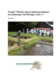 Direkte salg af opdrætsprodukter fra dambruger ... - Dansk Akvakultur