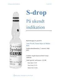 S-drop på ukendt indikation - Jordemoderforeningen