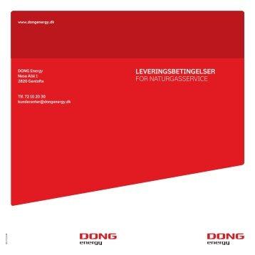 Leveringsbetingelser for Naturgasservice (pdf) - DONG Energy