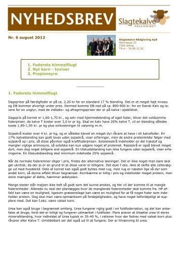 2012-08-06 Nyhedsbrev Slagtekalve nr. 6 august 2012