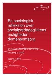 En sociologisk refleksion over ... - Servicestyrelsen