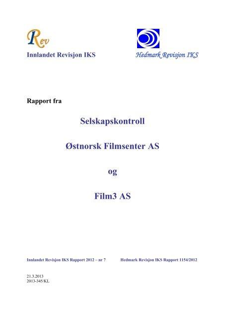 rapport 7/2012 - Innlandet Revisjon IKS