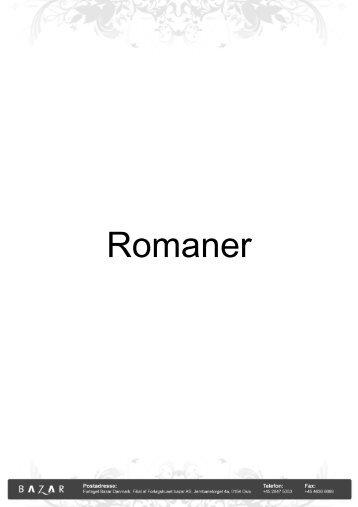 Romaner - Bazar Forlag